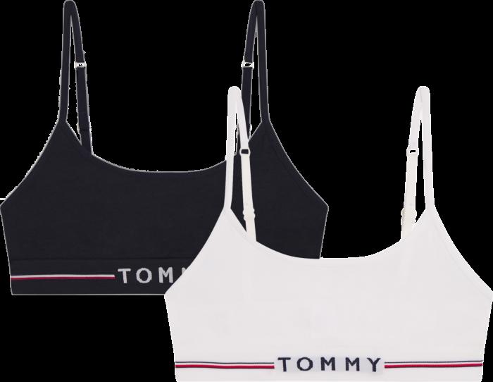 Tommy Hilfiger Girls Bralette 2P Desert Sky/White