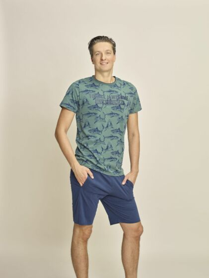 Charlie Choe E-Shark Attack Heren Short Pyjama s/s