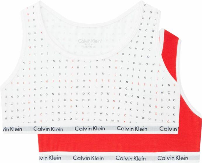 Calvin Klein Girls Bralette 2P White/Red