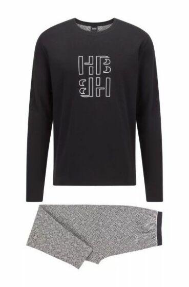 Hugo Boss Relax Pyjama l/s Medium Grey