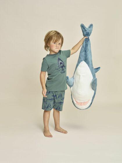Charlie Choe E-Shark Attack Boys Short Pyjama s/s