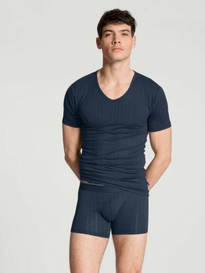 Calida Pure & Style V-Shirt Indigo Mood