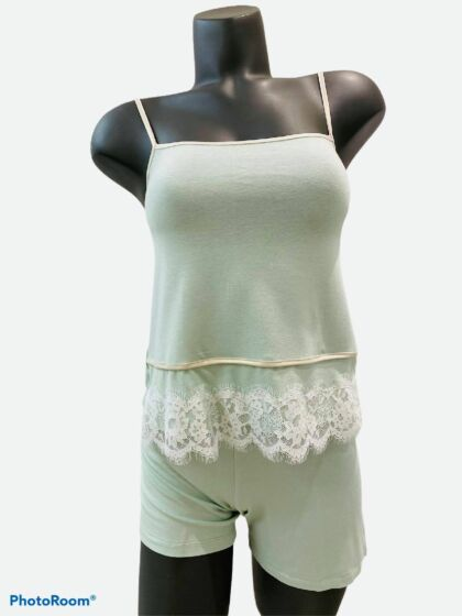 Vitamia Open Short Pyjama Groen