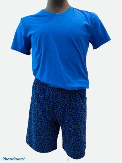 Mey Gordons Bay Short Pyjama s/s Yacht Blue