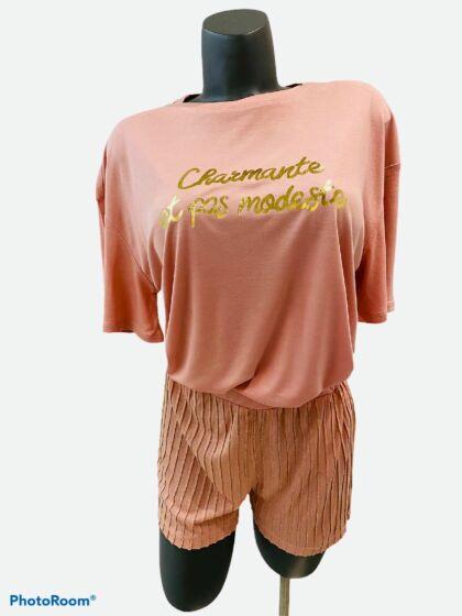 Twinset Short Pyjama s/s Peach Powder