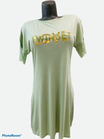 Twinset Nachtkleed s/s Pastel Green