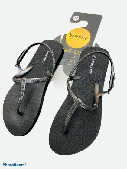 Isotoner Sandale Zwart