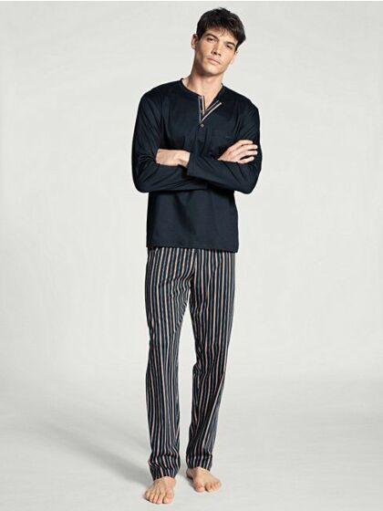 Calida Relax Selected Pyjama l/s Dark Sapphire