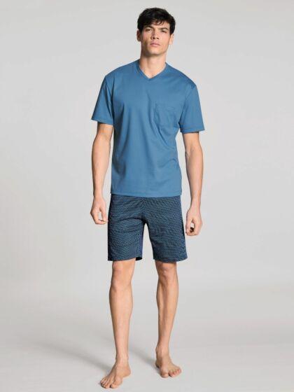 Calida Relax Streamline Short Pyjama s/s Pari Blue