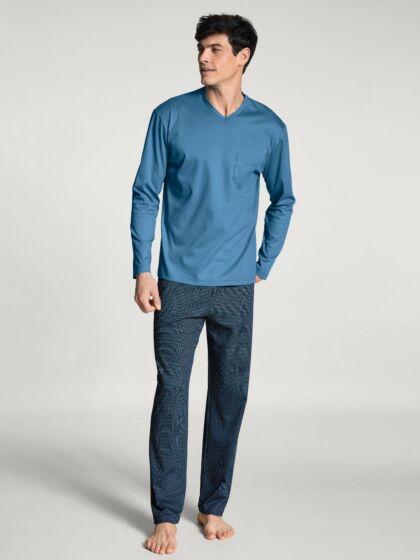 Calida Relax Streamline Pyjama l/s Parisian Blue