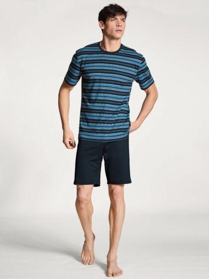 Calida Relax Streamline Short Pyjama s/s DarkSapph