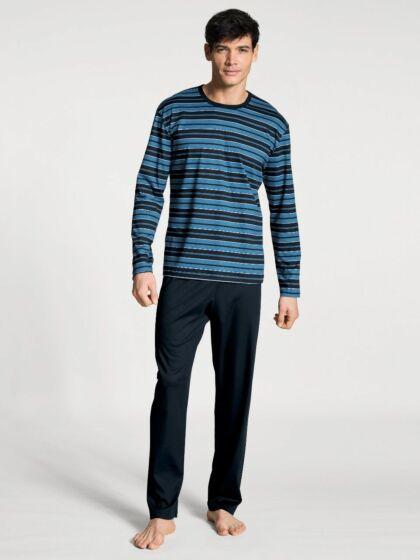 Calida Relax Streamline Pyjama l/s Dark Sapphire