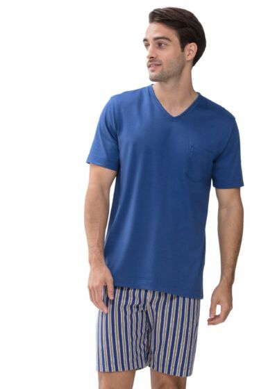 Mey Witsand Short Pyjama s/s Tropical Blue
