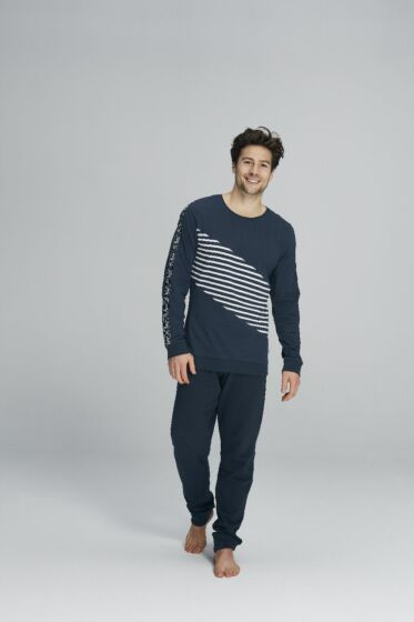 Charlie Choe Far Far East Men Pyjama l/s Navy