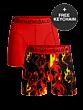 Muchachomalo Football Shorts 2P Print/Red