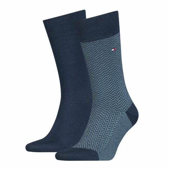Tommy Hilfiger Men Micro Herringbone Sock 2P Blue