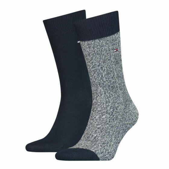 Tommy Hilfiger Men Mouline Sock 2P Navy/Blue