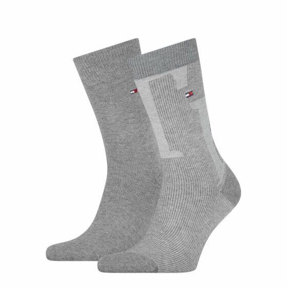 Tommy Hilfiger Men Sock Rib 2P Grey Mel
