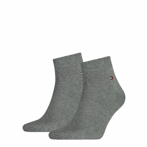 Tommy Hilfiger Men Sock Quarter 2 Pack Grijs