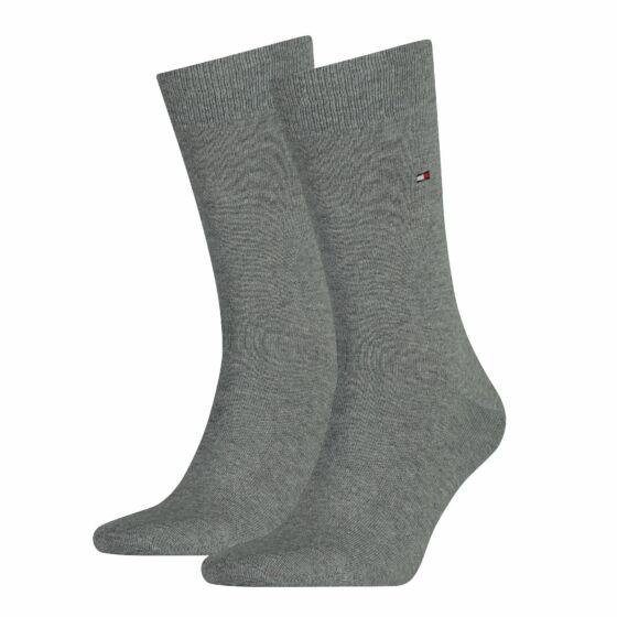 Tommy Hilfiger Men Sock Classic 2 Pack Mid Grey