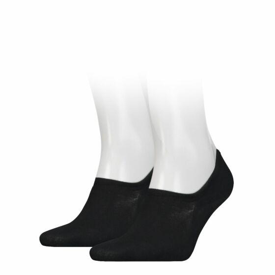 Tommy Hilfiger Men Sock Footie 2 Pack Zwart