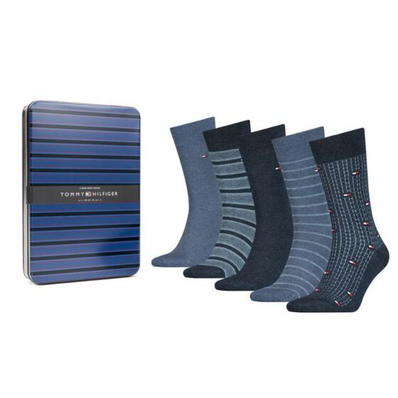 Tommy Hilfiger Fine Stripe Men Sock 5P Jeans